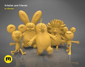 3D print model Krtek and his friends