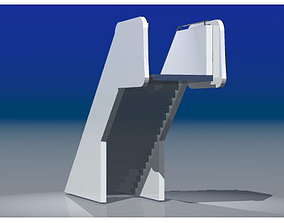 Airport stair 3D