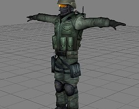 3D asset Counter Strike - Counter Terrorist T pose Model 2