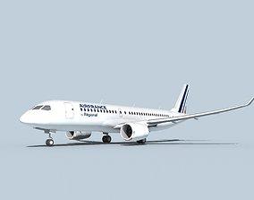Bombardier CS100 Air France Regional 3D model