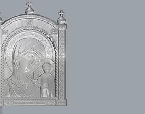 Virgin Mary with Sacred Heart Pendant 3D print