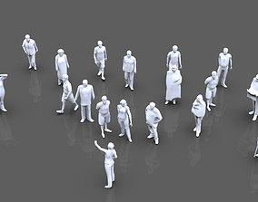 Posed People 3D model