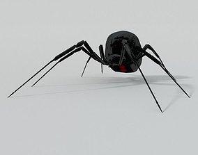 3D asset VR / AR ready Black Widow