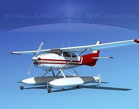 Cessna 182 Skylane Seaplane V02 3D