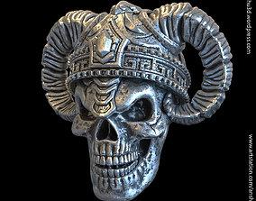 Demon skull vol4 Pendant jewelry 3D printable model