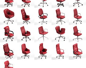 21 office chair pack collection max 3D