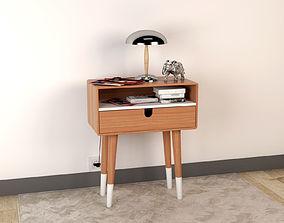 3D Bedside Table - Set Decoration Bedroom 06