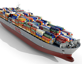 Container ship OOCL 3D model