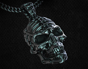 3D print model Biomechanical Skull Pendant Silencer with 1
