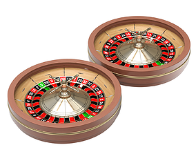 American and European Roulette Wheel 3D