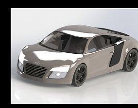 3D model AUDI r8 automobile-lift