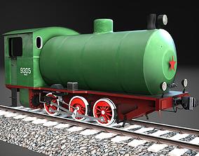 Industrial steam tank locomotive NF-9305 3D model