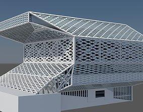 3D model Seattle Public Library
