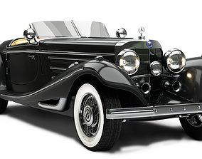3D Mercedes Benz 540K antique
