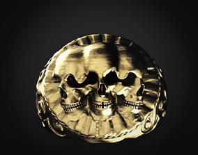 3 Skull ring 3D printable model