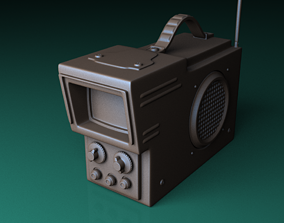 The Portable Television 3D model