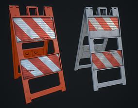 HQ Plastic Barricade 3D asset