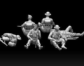 3D print model British soldiers