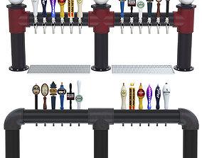 Industrial Draft Beer Towers 3D model