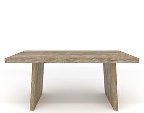 3D model VR / AR ready PBR dining wooden table
