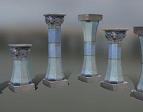 3D asset Blue Column