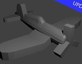 3D printable model US F4U Corsair Fighter Aircraft