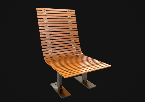 bench 3d model with two different color sets