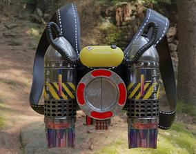 Jetpack scifi 3D model