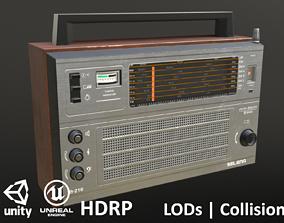 Soviet Radio Selena - Unity - HDRP - UE4 3D asset