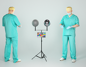 3D model Male surgical doctor ready for surgery 42