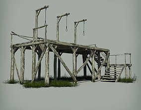 Medieval Gallows 3D model