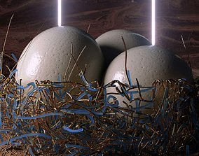 3D Ostrich Egg