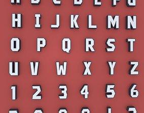 Alphabet 3D asset