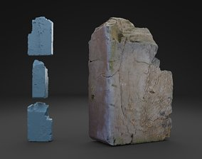 3D model Scanned Broken Red Ceramic Brick HIGH POLY
