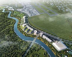 3D Airport Commercial Center 001