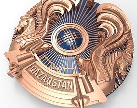symbol coat of arms of Kazakhstan 3D