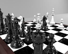 3D model Marble Chess Set PF