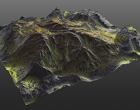 3D model Mossy Mountain PBR