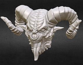 Demon head Bead 3D print model