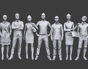 Lowpoly People Casual Pack 3D model VR / AR ready
