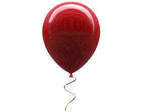 3D model round balloons 02