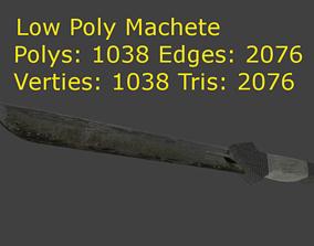 3D asset Low Poly Machete
