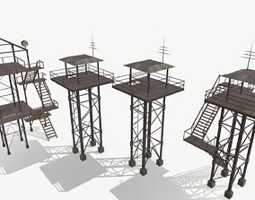 Watchtowers 3D asset