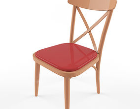 Game ready chair wooden 3D model