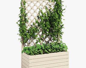 3D Planter with Trellis 66 litres