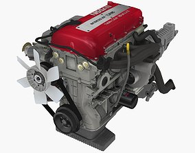 Nissan SR20DET Red Top engine 3D asset