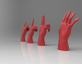 3D asset hand model RIGGED - low poly - triangulated