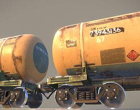 Railway Oil Tank Car vr1 3D asset realtime