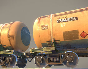 Railway Oil Tank Car vr1 3D asset