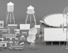 3D asset rooftop parts